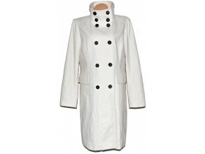 Vlněný dámský bílý kabát CAMAIEU XXL