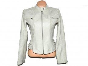 KOŽENÁ dámská bílá bunda na zip NEXT S/M