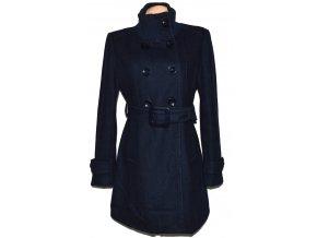 Vlněný dámský modrý kabát s páskem B. Style L