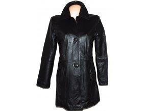 KOŽENÝ dámský černý měkký kabát Concerto M