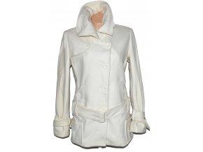 Vlněný dámský bílý kabát s páskem AMISU 42