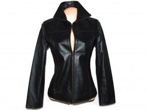 KOŽENÁ dámská černá měkká bunda na zip Calypso