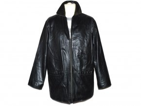 KOŽENÁ pánská černá měkká bunda na zip s.Oliver L