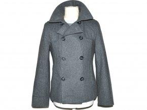 Vlněný pánský šedý kabát TOPMAN