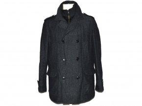 Vlněný pánský šedočerný zateplený kabát F&F M