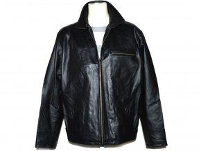 KOŽENÁ pánská černá měkká bunda na zip Calypso XL