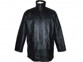 KOŽENÁ pánská černá měkká bunda na zip Different XL