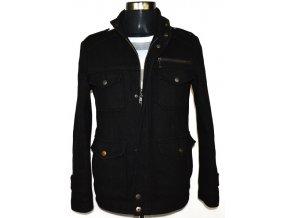 Vlněná pánská černá bunda na zip Cedarwood state S