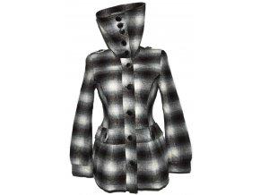 Dámský hnědý zateplený kabát s páskem Orsay S/M