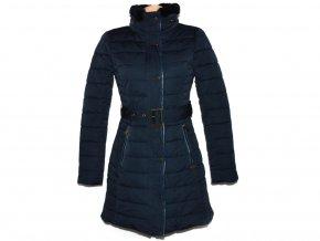 Dámský modrý šusťákový kabát s páskem Firetrap S