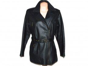 KOŽENÝ dámský černý kabát - křivák CERO L