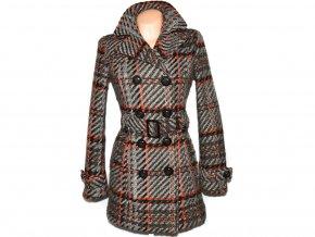 Vlněný dámský hnědý kabát s páskem ORSAY M