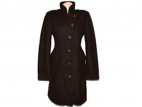 Vlněný (80%) dámský hnědý kabát BENETTON