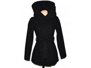 Dámský černý kabát s páskem AMISU S
