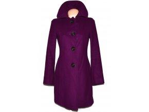 Vlněný (80%) dámský fialový kabát BENETTON S