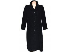 Vlněný dámský šedočerný dlouhý kabát (vlna, kašmír) XL