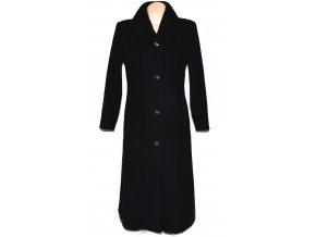 Vlněný (100%) dámský černý kabát Marks&Spencer L