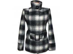 Vlněný dámský kostkovaný kabát s páskem Fresh Made L