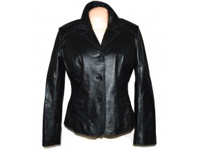KOŽENÉ dámské černé měkké sako WS Leather 14/42