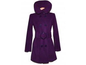 Dámský fialový kabát s páskem Melrose M