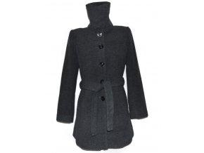 Vlněný dámský šedý kabát s páskem F&F L
