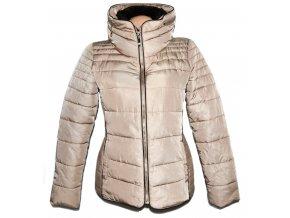Dámská béžová šusťáková bunda na zip CAMAIEU M
