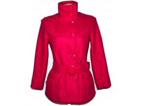Vlněný dívčí růžový kabát s páskem Kylie