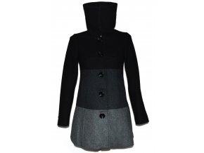 Vlněný dámský pruhovaný kabát H&M S