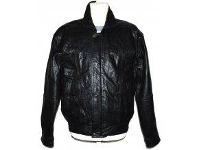 KOŽENÁ pánská černá bunda na zip David Conrad M