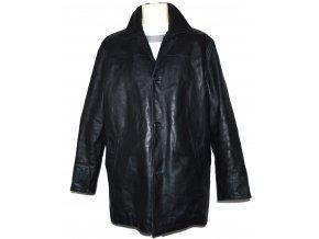 KOŽENÁ pánská černá zateplená bunda GAP L