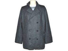 Vlněný pánský šedý kabát BEN SHERMAN L