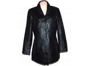KOŽENÝ dámský černý měkký kabát WS Leather