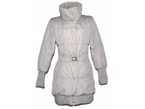 Dámský šusťákový béžový kabát s páskem 42