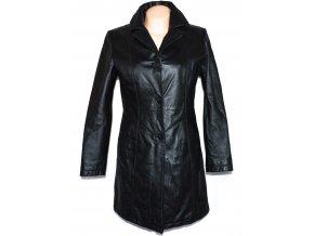 KOŽENÝ dámský černý kabát YESSICA M