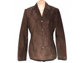 KOŽENÉ dámské hnědé broušené sako Per Una XL