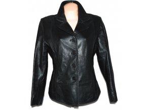KOŽENÉ dámské černé měkké sako LLD XL