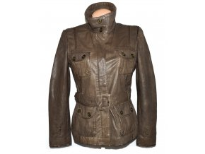 KOŽENÝ dámský měkký kabát s páskem NEXT