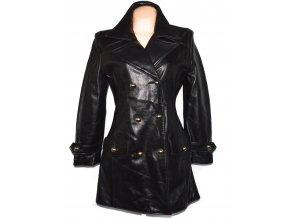 KOŽENÝ dámský černý měkký kabát Ashy M
