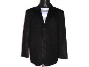 Vlněný pánský černý kabát EDSON PARIS XL