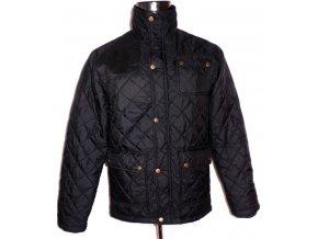 Pánská černá prošívaná bunda na zip S