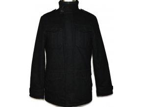 Vlněná pánská černá bunda na zip F&F S