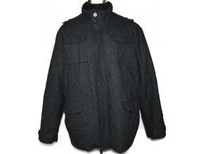 Vlněný pánský šedý zateplený kabát F&F XXL