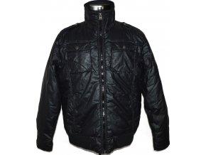 Pánská černá bunda na zip GATE L