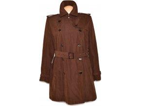 Dámský hnědý kabát s páskem WISHWOOD XXL