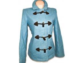 Vlněný dámský modrý kabát na zip, vidlice GAP