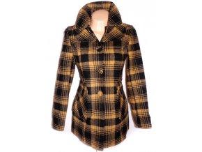 Vlněný dámský černožlutý kabát NEXT M