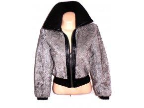 Dámská šedá kožíšková bunda NEW LOOK S, M