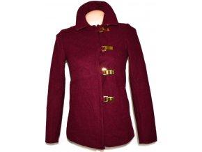 Vlněný dámský vínový kabátek H&M