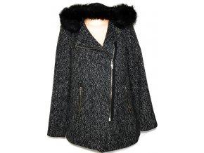 Dámský černobílý kabát, křivák NEW LOOK