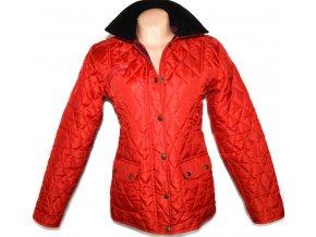 Dámská červená prošívaná bunda L